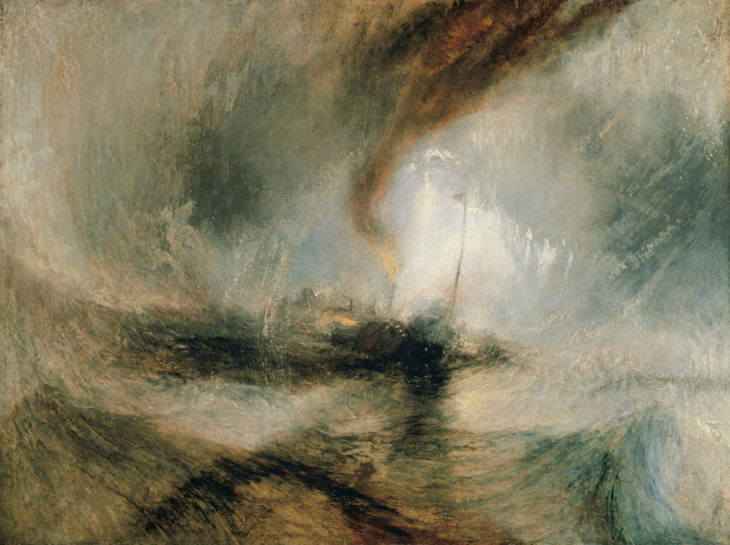 Turner and the Sea, Snow Storm - Steam Boat off Harbour's mouth