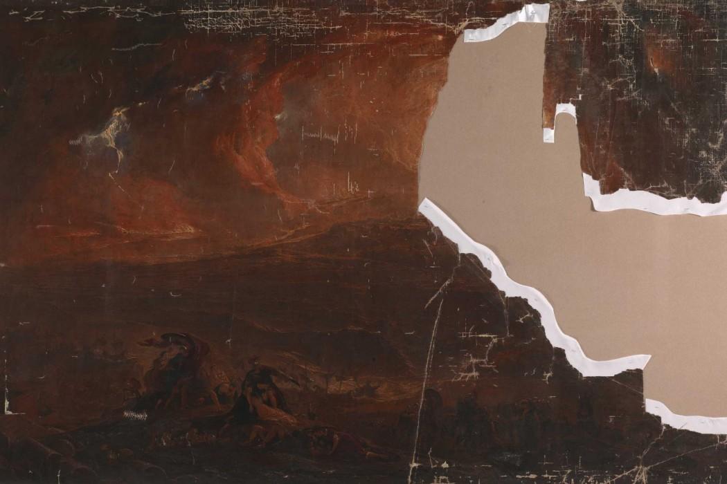 John Martin Destruction of Pompeii and Herculaneum Tate water damage