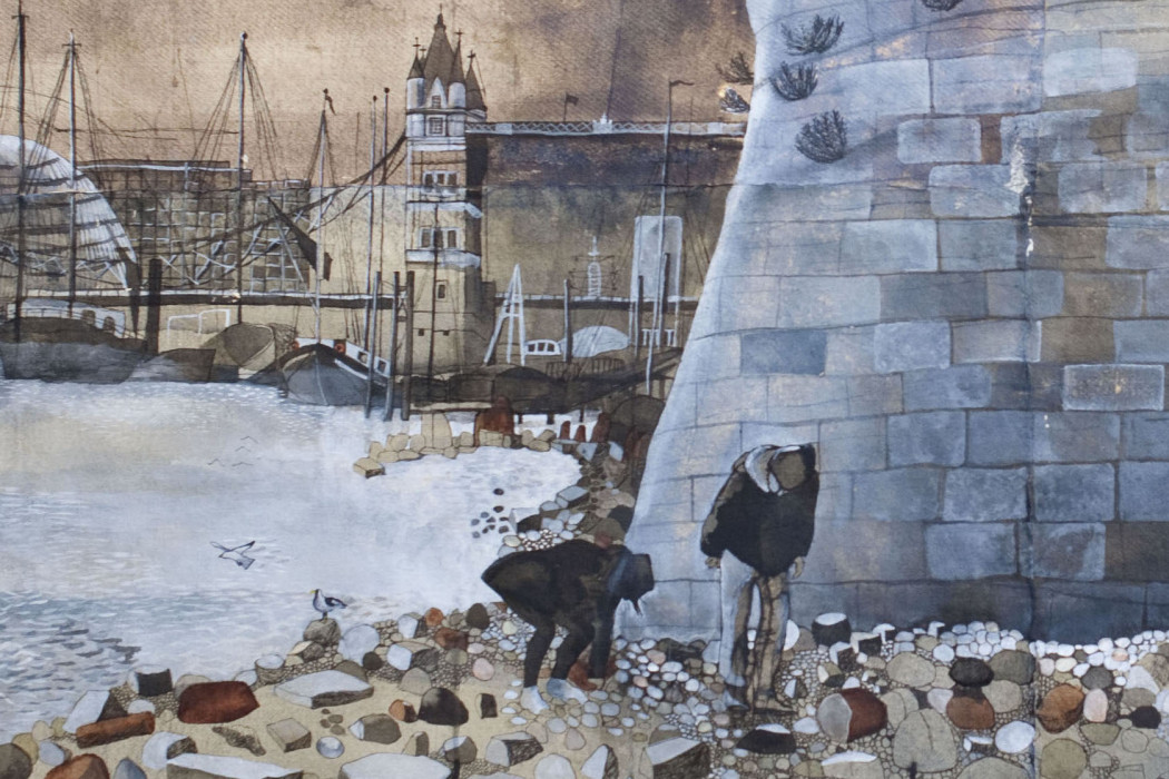 CHARALAMBOUS On the Foreshore, 2014, mixed media on Khadi paper, 112 x 151 cm DETAIL