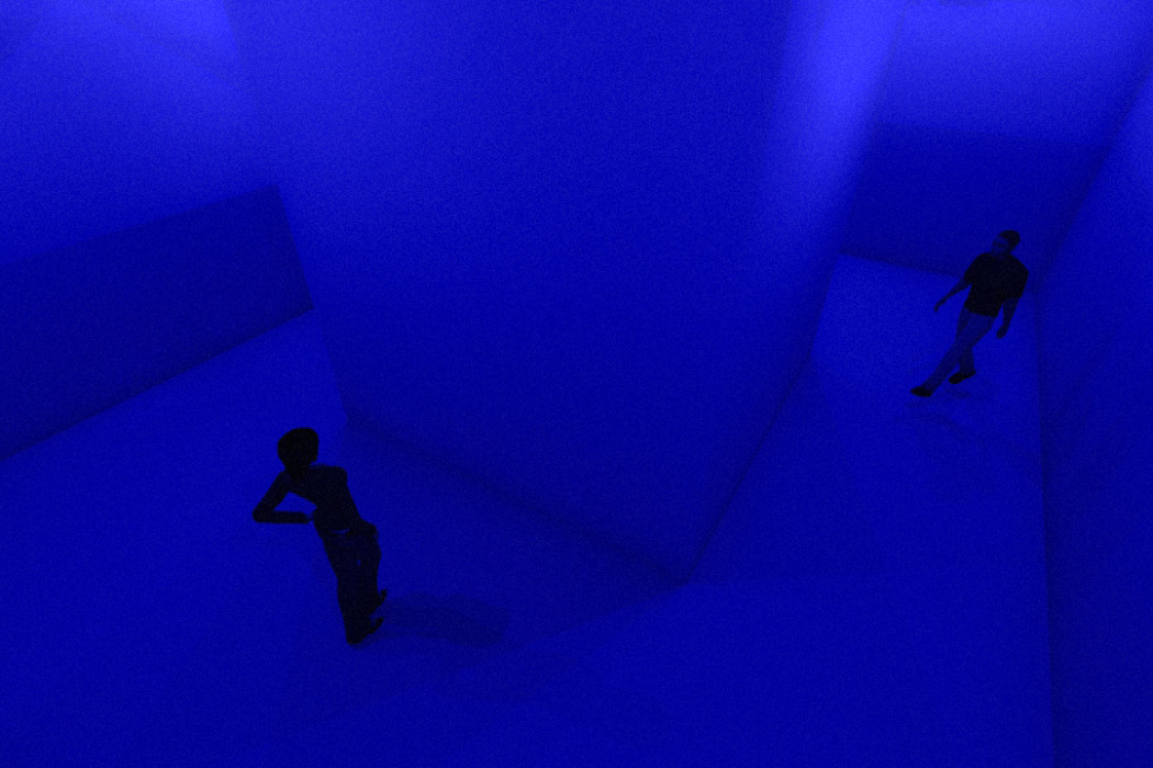 Waldorf Project Chapter Two - COLOUR. 3-11 February 2015. Theatre Art Installation Dining. BLUE ROOM