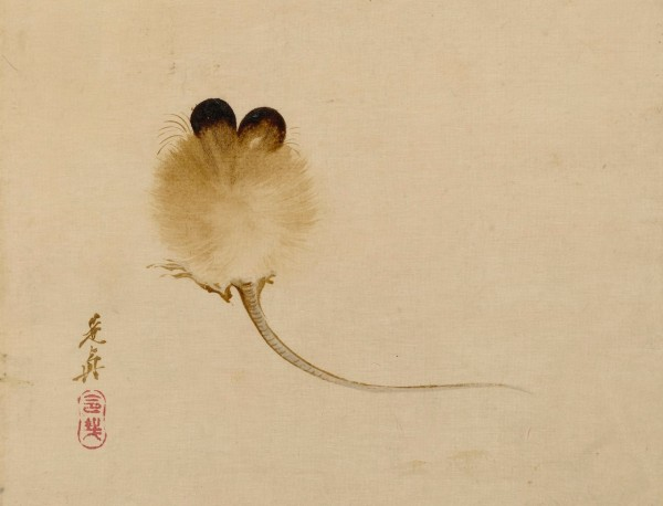 Painting of a Mouse, by Shibata Zeshin
