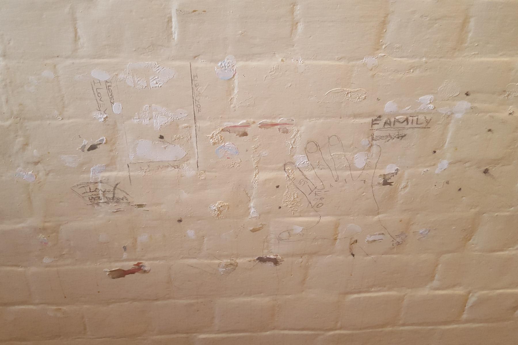Reading Prison Artangel graffiti