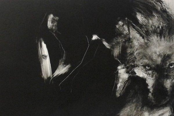 Louise Pallister wolf monotype 1050