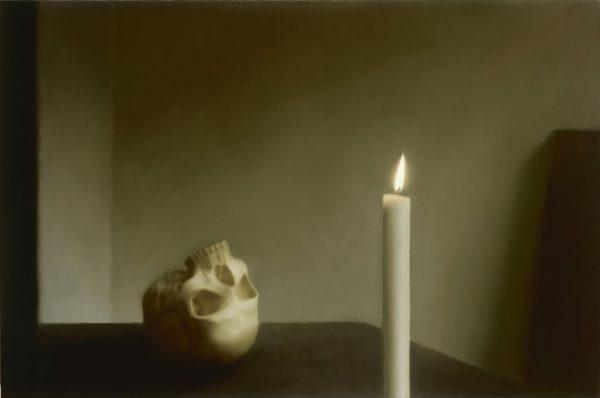 Gerhard Richter, Schädel mit Kerze (Skull with Candle), 1983