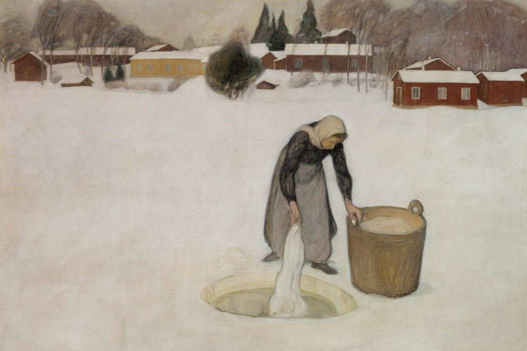 Halonen, Pekka, Washing on the Ice, 1900