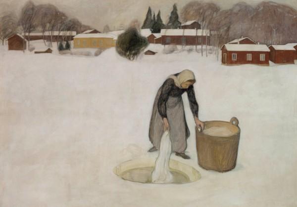 Halonen, Pekka, Washing on the Ice, 1900