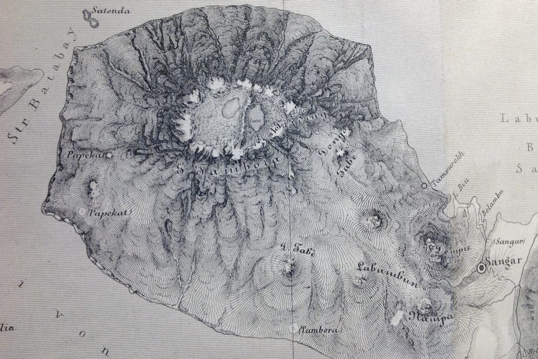 Map of the Sanggar peninsula, 1847