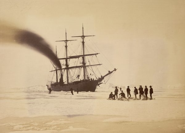 Lines in the Ice - Bradford's photograph of the crew of the Panther with the spoils of a bear hunt